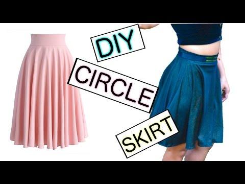 DIY circle skirt tutorial (No zip method) | FashionMoksha
