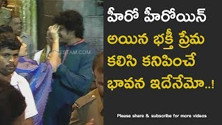 Telugu Actor offered prayers in Tirumala with wife