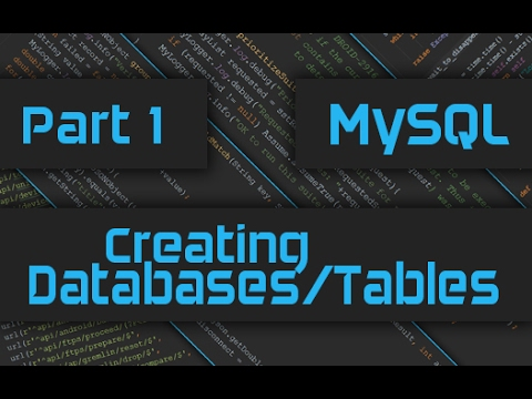 How to create Database, Tables and Add Columns in MySQL