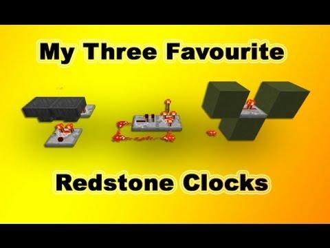 Minecraft Clocks: Hopper, sequential and comparator [redstone basics]