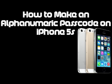 How to Make an Alphanumeric Passcode on iPhone 5s