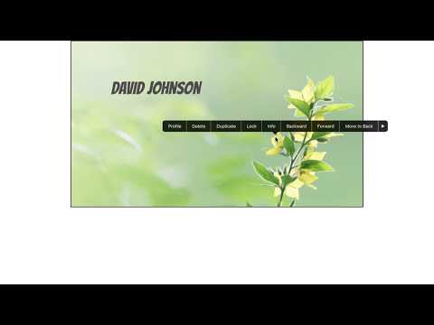How to create your own business card on the iPad using BP Business Card Designer