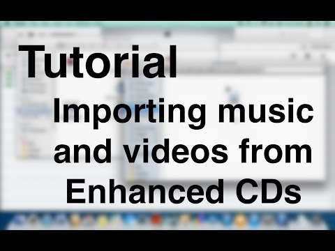 iTunes Tutorial - Importing music and videos from Enhanced CDs (OSX)