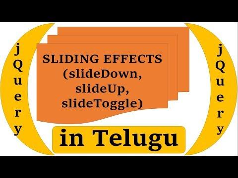 Sliding Effects(slideDown, slideUp, slideToggle) in jQuery in Telugu by Kotha Abhishek