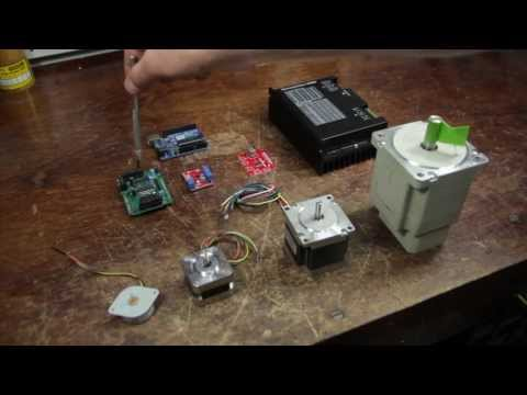 Arduino Stepper Tutorial - Using Sparkfun Big Easy Driver to create a single axis CNC