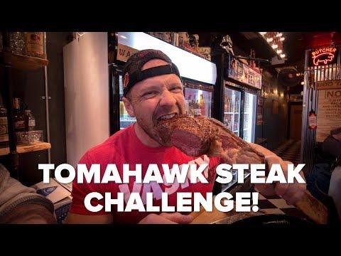 Taking on the Delicious 40oz Tomahawk Steak Challenge