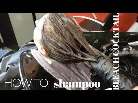 shampoo BLEACH COCKTAIL: going one shade lighter