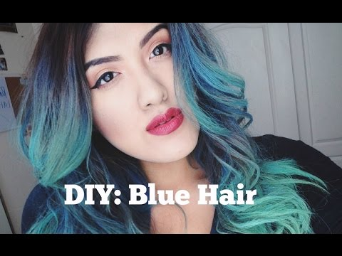 How to get blue hair with soft pastels