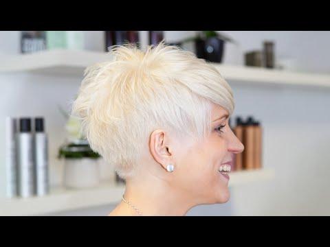 short pixie haircut makeover - undercut / sidecut - extreme haircut short by alisha heide