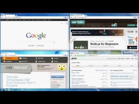 Tab Resize [split screen layouts] - Chrome Extension Demo