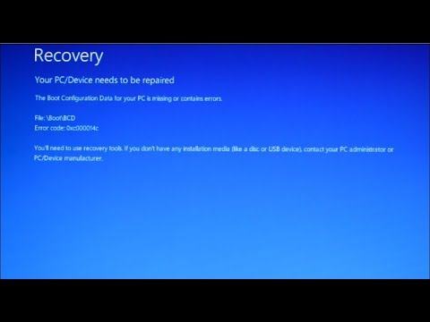 How to Fix windows 10 boot error