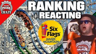 RANKING the Roller Coasters at Six Flags Magic Mountain (with Reactions)