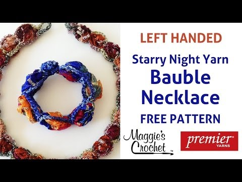 Bauble Necklace Free Crochet Pattern - Left Handed