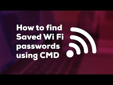 How to find Saved Wi Fi passwords using CMD
