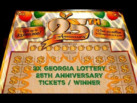Georgia Lottery 25th Anniversary Tickets | Winner (Repost)