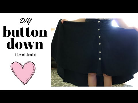 DIY HI LOW BUTTONED DOWN CIRCLE SKIRT