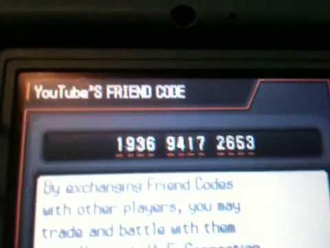 My Pokémon Black 2 Friend Code