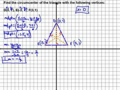 Find Circumcenter of a Triangle Using System of Equations
