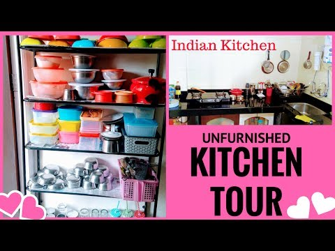 My small kitchen Organization /Indian KITCHEN TOUR / Organize kitchen without cabinets/
