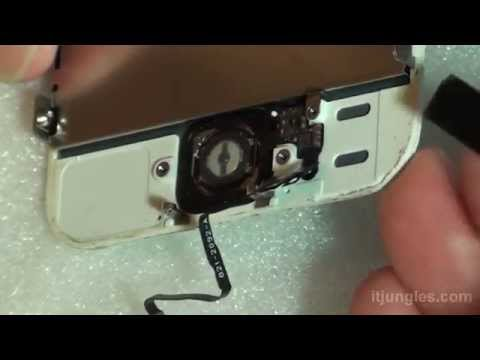 iPhone 5S: Home Button Touch ID Replacement Close Up