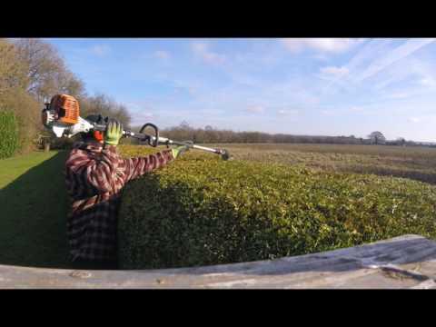 Cutting Big Hedges With Stihl-Kombi Hedge Cutters