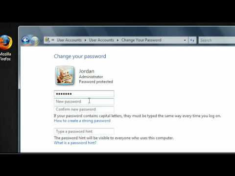 How to change your password in Windows Vista