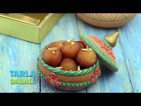 Gulab Jamun, Jamun made with khoya by Tarla Dalal / Diwali Special Mithai
