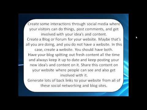 Website traffic increase. How to make your website popular. Website & Social media.