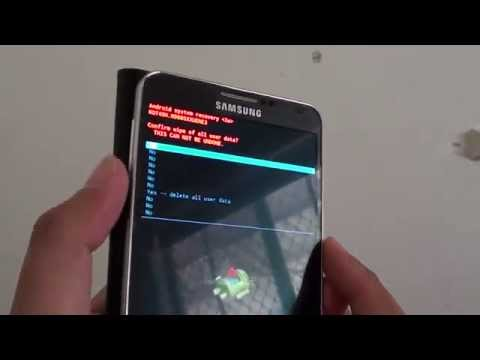 Samsung Galaxy Note 3: How Factory Reset With Hardware Keys