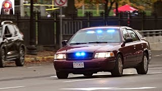 Unmarked Police Car Ford Crown Victoria Responding Siren - Boston