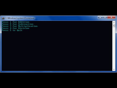 How to make a calculator with Notepad (Command Prompt)