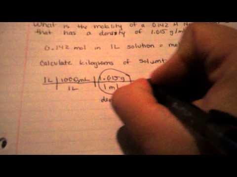 Solving for Molality Using Density #1