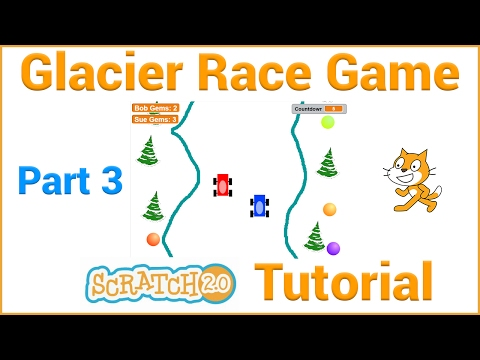 Make a Glacier Race Game in Scratch (Part 3/4)