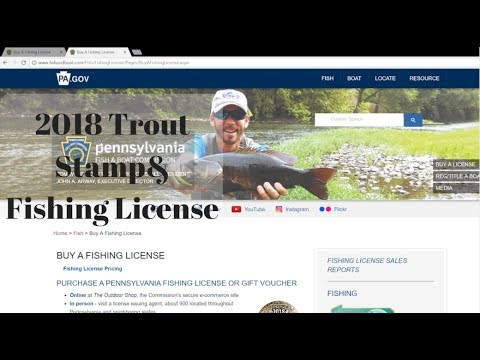 Best way to buy a Trout Stamp& Fishing License 2018 in PA.
