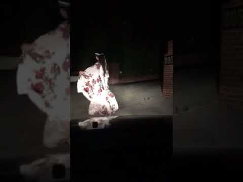 Wind on my long sheer dress at night real time.