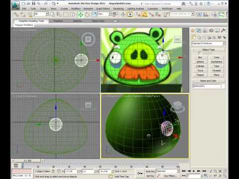 3ds max 1.Creating Pig head and eyes