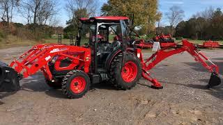 Kioti DK4710SE HST Tractor w/ Loader & KB2485 Backhoe