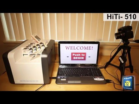 Photo Booth Printer - HiTi P510S - 2x6 Cut Driver Demo with PTBooth