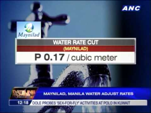 Maynilad, Manila Water adjust rates