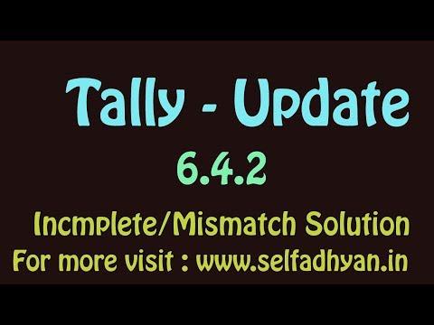 Tally ERP9 6.4.2 update | Mismatch Error Resolved in New updation GSTR1