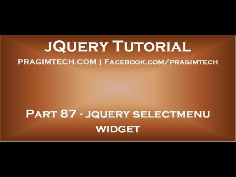jquery selectmenu widget
