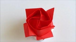 By Origami Instructions Kawasaki Rose Version 2