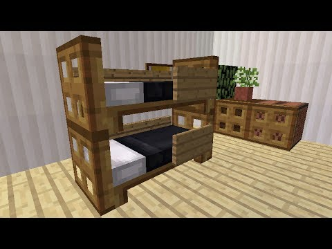 Minecraft - How to make a realistic Bunk Bed