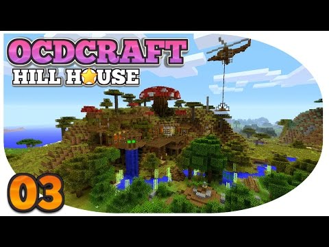 Minecraft PS4: Survival | OCDCRAFT | Hill Top House | SURVIVAL HELICOPTER, WHAT!!! (E3)