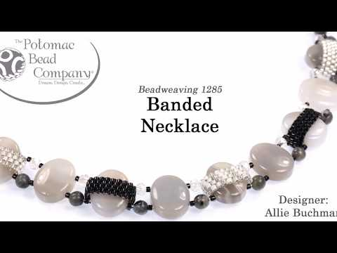 Banded Necklace (Peyote Cover Tutorial)