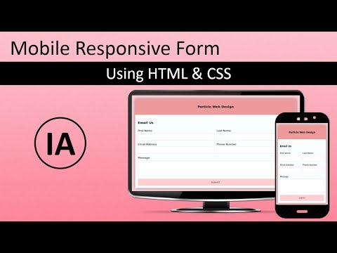 Mobile Responsive Form using HTML5 & CSS (In 15 Minutes)