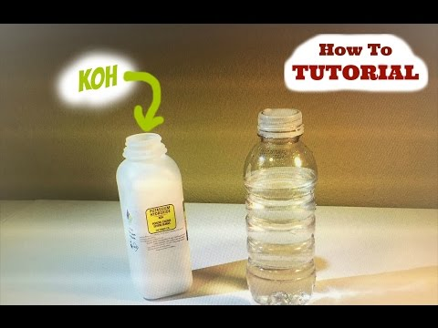 Mixing your Potassium Hydroxide (KOH) with your WATER for your Hydrogen Generator (HHO)