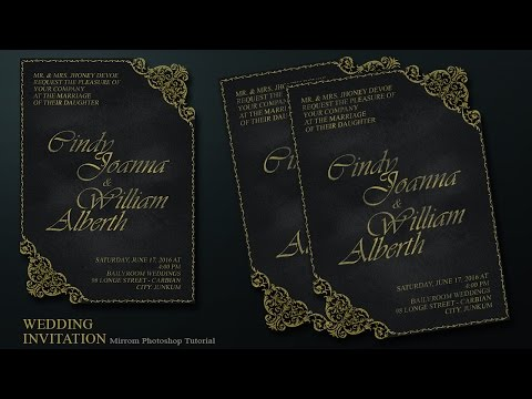 Create a Chalkboard and Ornament Style Wedding Invitation Card In Photoshop