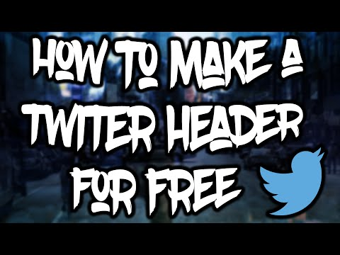 How To Make A Twitter Header For Free! 2016!