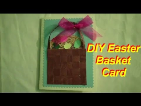 How to Make a Woven Easter Egg Basket Card